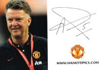 Louis van Gaal Autograph Signed Photo - Manchester United